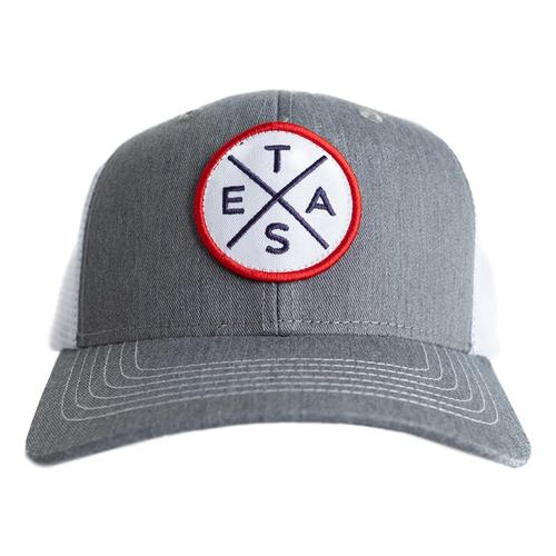 Tumbleweed Texstyles Big X Patch Trucker Hat Gray