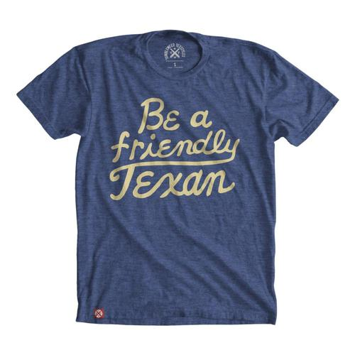 Tumbleweed Texstyles Unisex Friendly Texan T-Shirt Royal