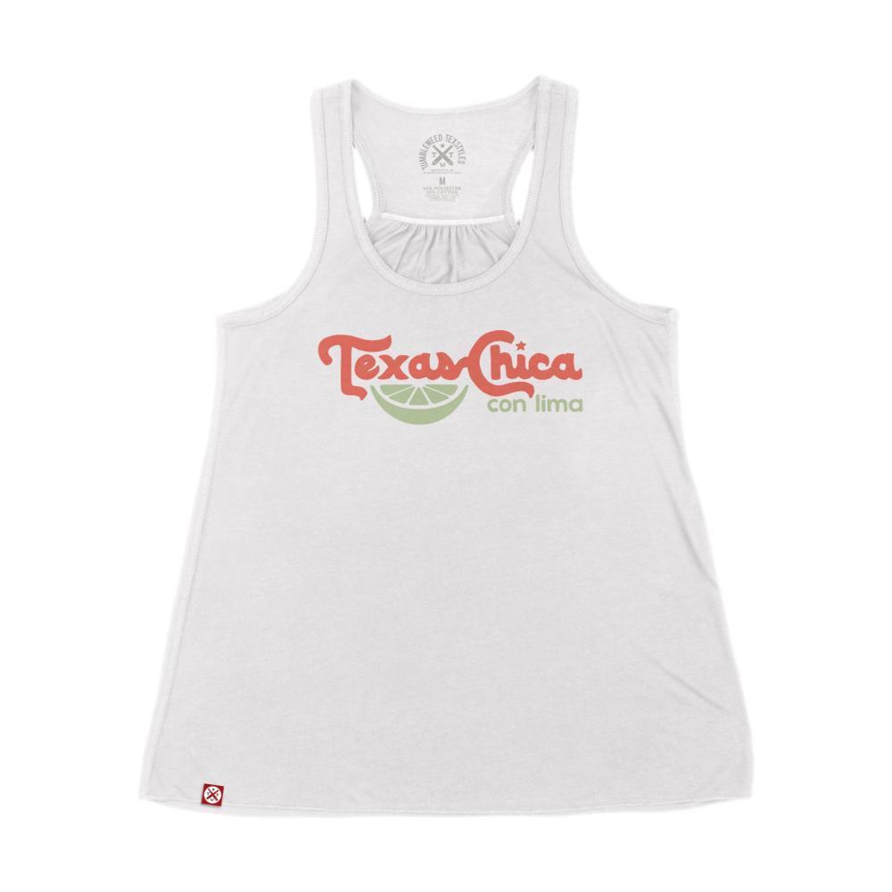 Tumbleweed Texstyles Women's Texas Chica Con Lima Flowy Racerback Tank WHITE