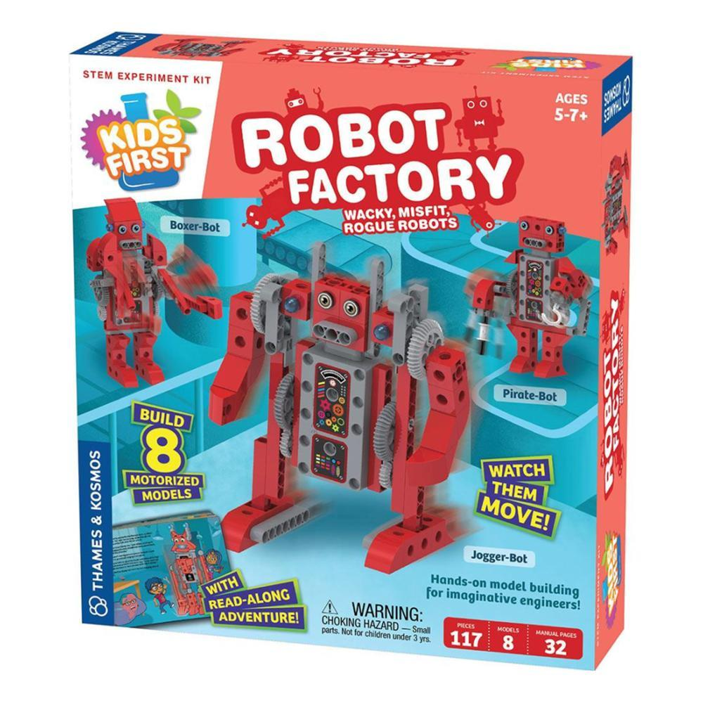 Thames And Kosmos Kids First Robot Factory : Wacky, Misfit, Rogue Robots