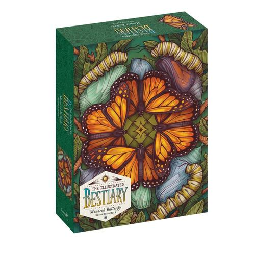 Workman The Illustrated Bestiary Jigsaw Puzzle: Monarch Butterfly