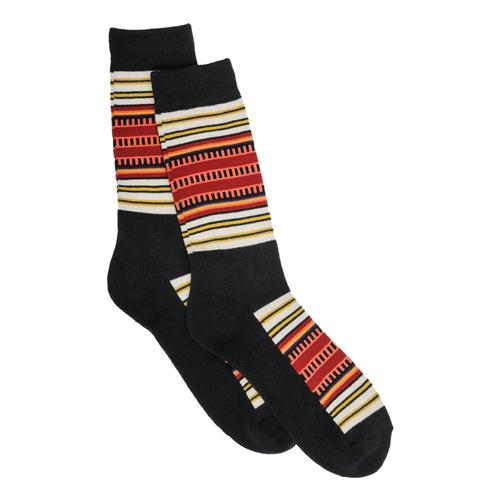 Pendleton National Park Stripe Crew Socks Black