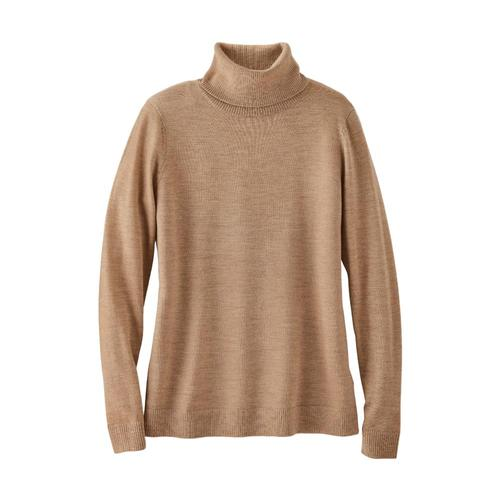 Pendleton Women's Timeless Merino Turtleneck Camel_73815