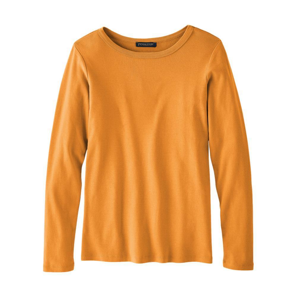 Pendleton Women's Long-Sleeve Cotton Ribbed Tee GOLD_73822