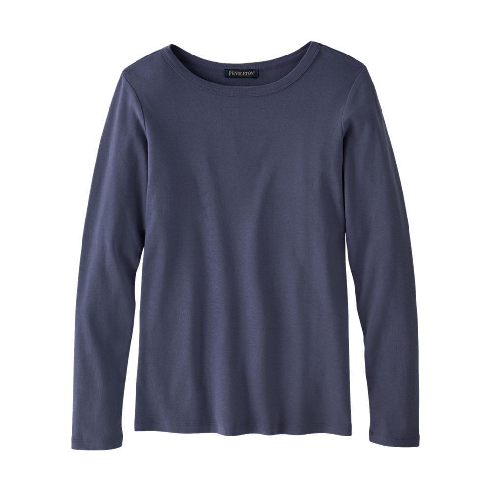 Pendleton Women's Long-Sleeve Cotton Ribbed Tee INDIGO_64668