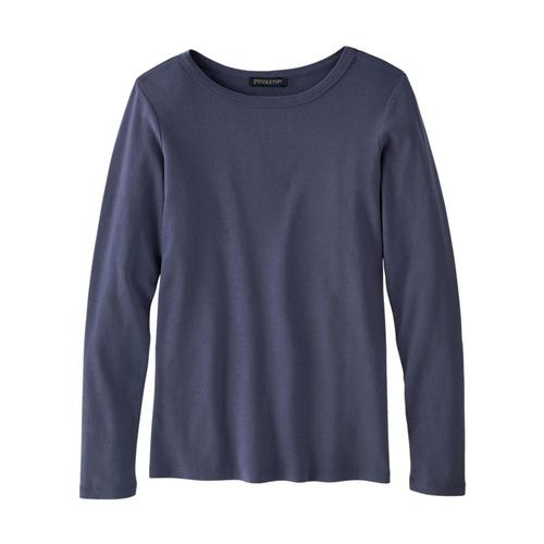 Pendleton Women's Long-Sleeve Cotton Ribbed Tee Indigo_64668