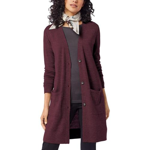 Pendleton Women's Timeless Merino Long Cardigan Rusticplum_73825