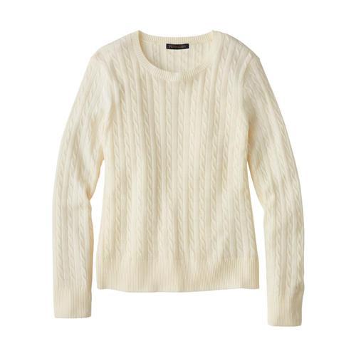 Pendleton Women's Merino Cable Pullover Ivory_72080