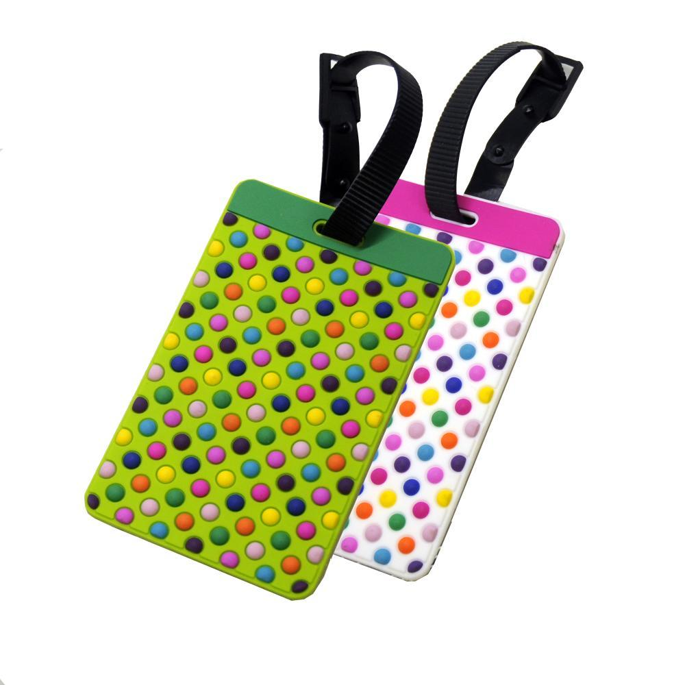 Voltage Valet Luggage Tag - Textures - 2 Pack DOTS