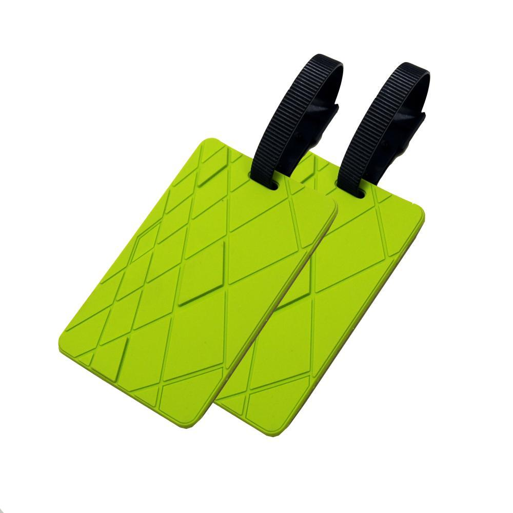 Voltage Valet Luggage Tag - Textures - 2 Pack GREEN