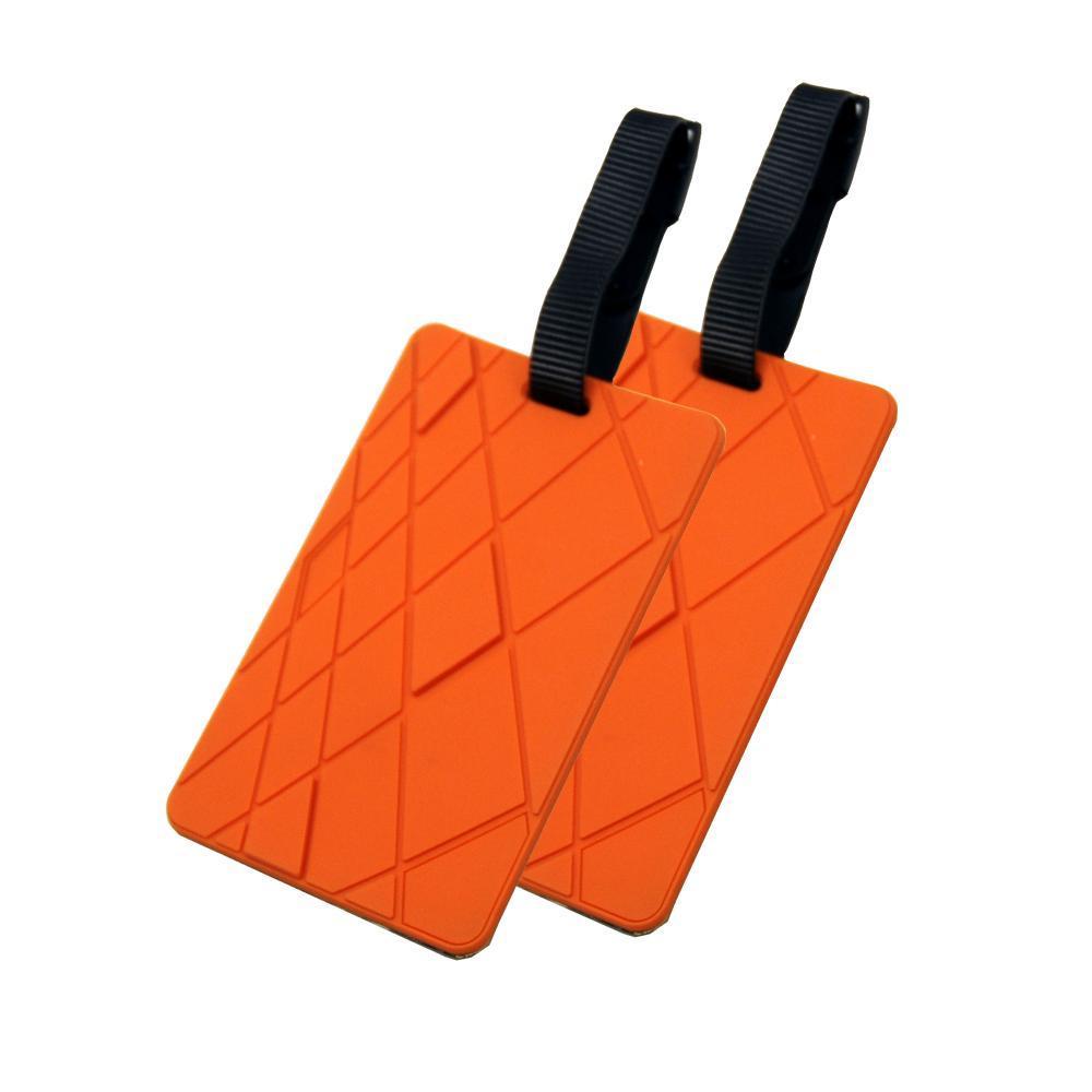 Voltage Valet Luggage Tag - Textures - 2 Pack ORANGE