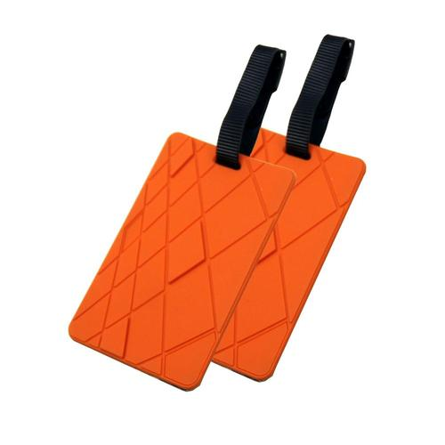 Voltage Valet Luggage Tag - Textures - 2 Pack Orange