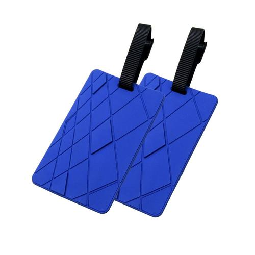 Voltage Valet Luggage Tag - Textures - 2 Pack Blue