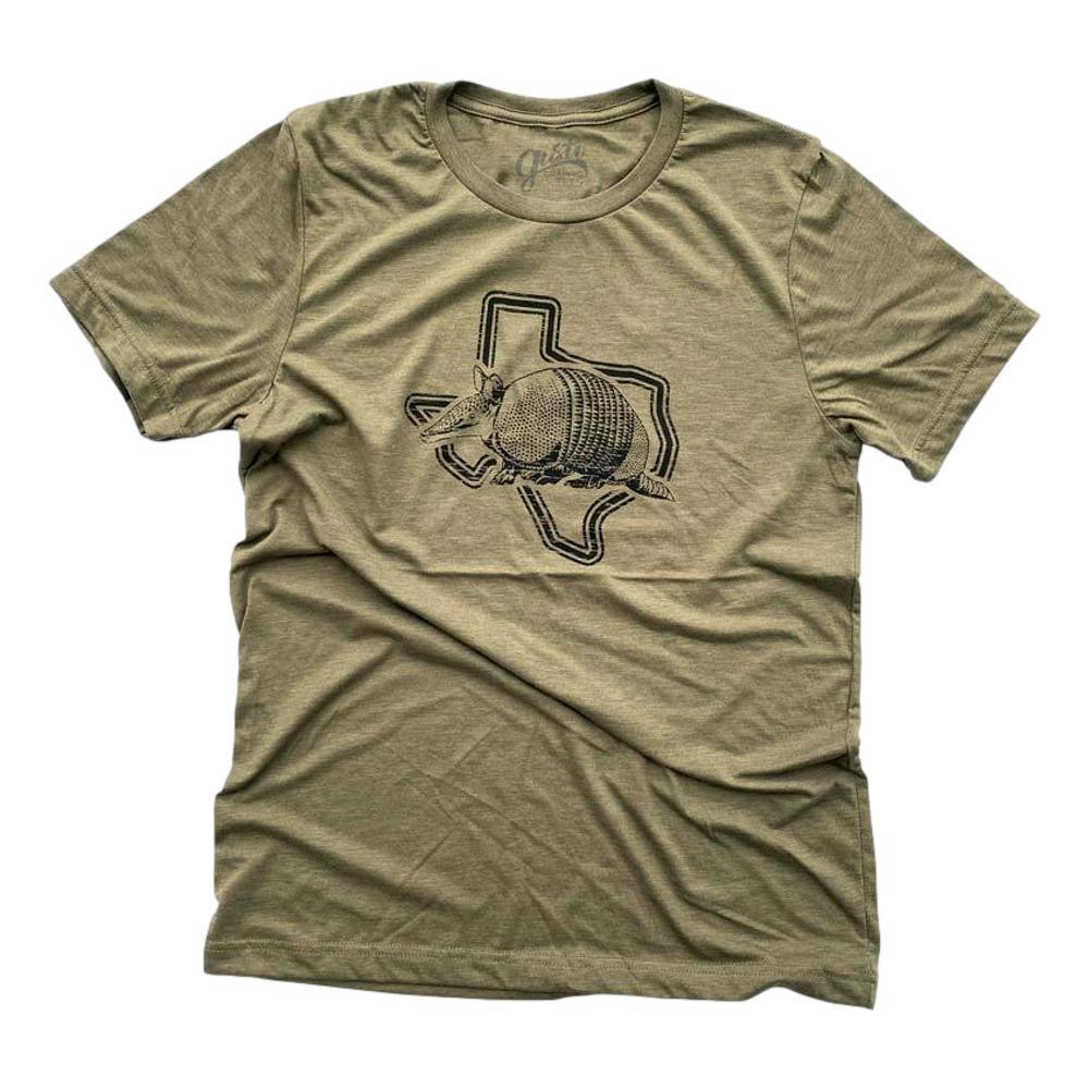 Gusto Tees Men's Armadillo Texas T-shirt OLIVE