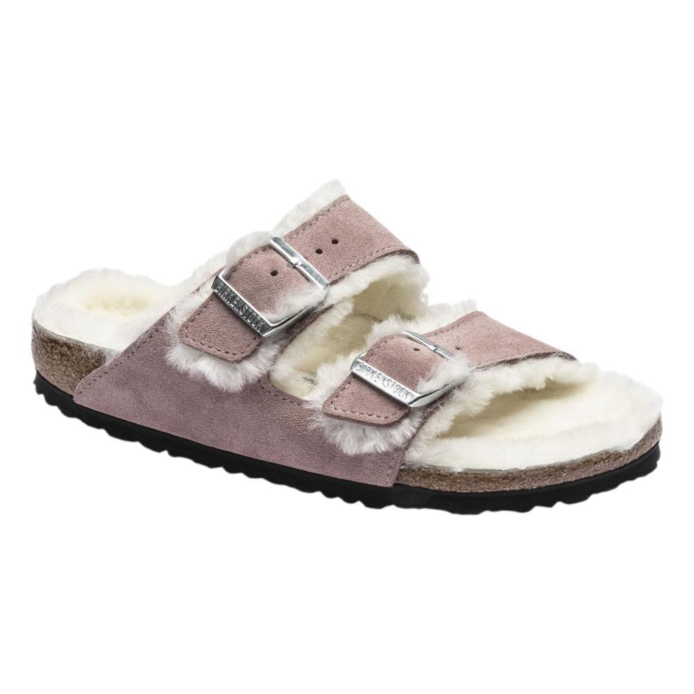 Birkenstock Women's Arizona Shearling Sandals - Narrow LAVEND.SD