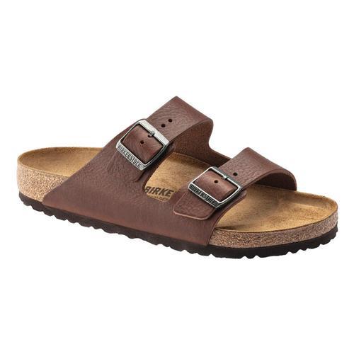 Birkenstock Men's Arizona Leather Sandals - Regular Vtrost.Lth