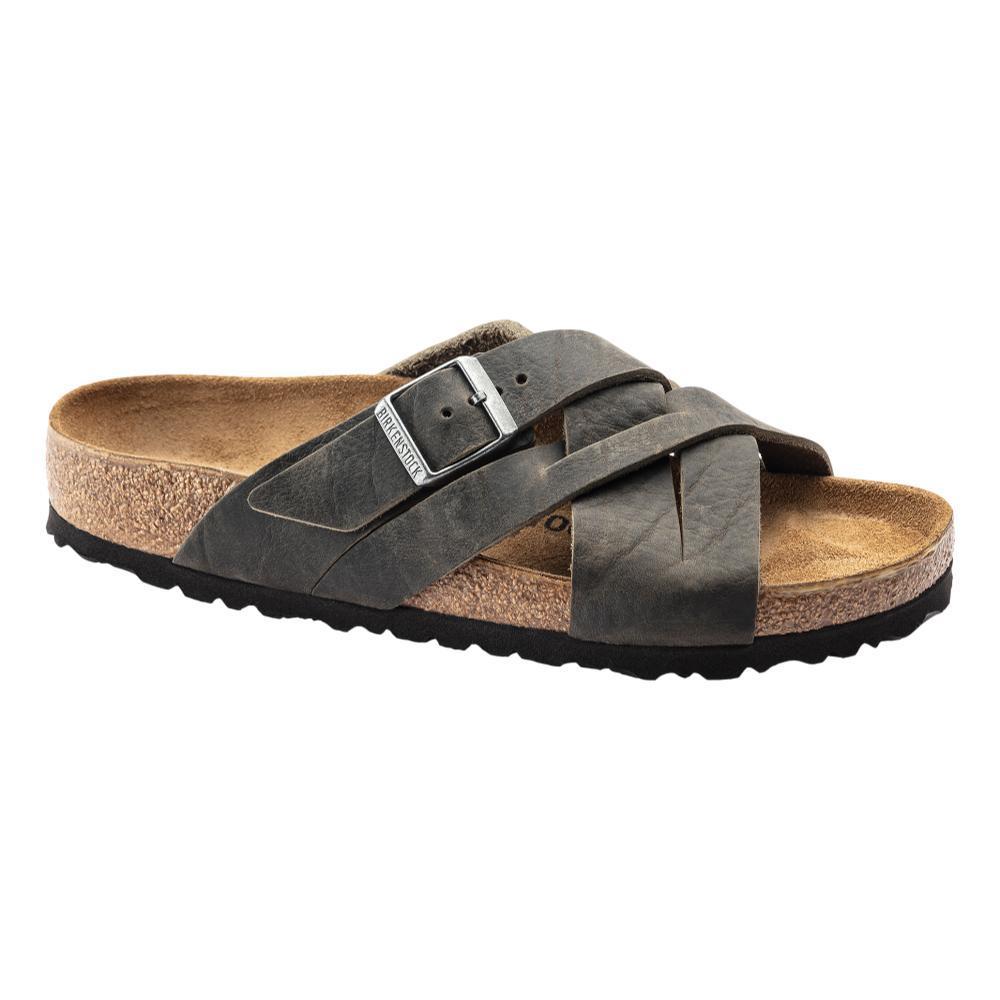 Birkenstock Men's Lugano Oiled Leather Sandals - Regular CFDKHAK.OL