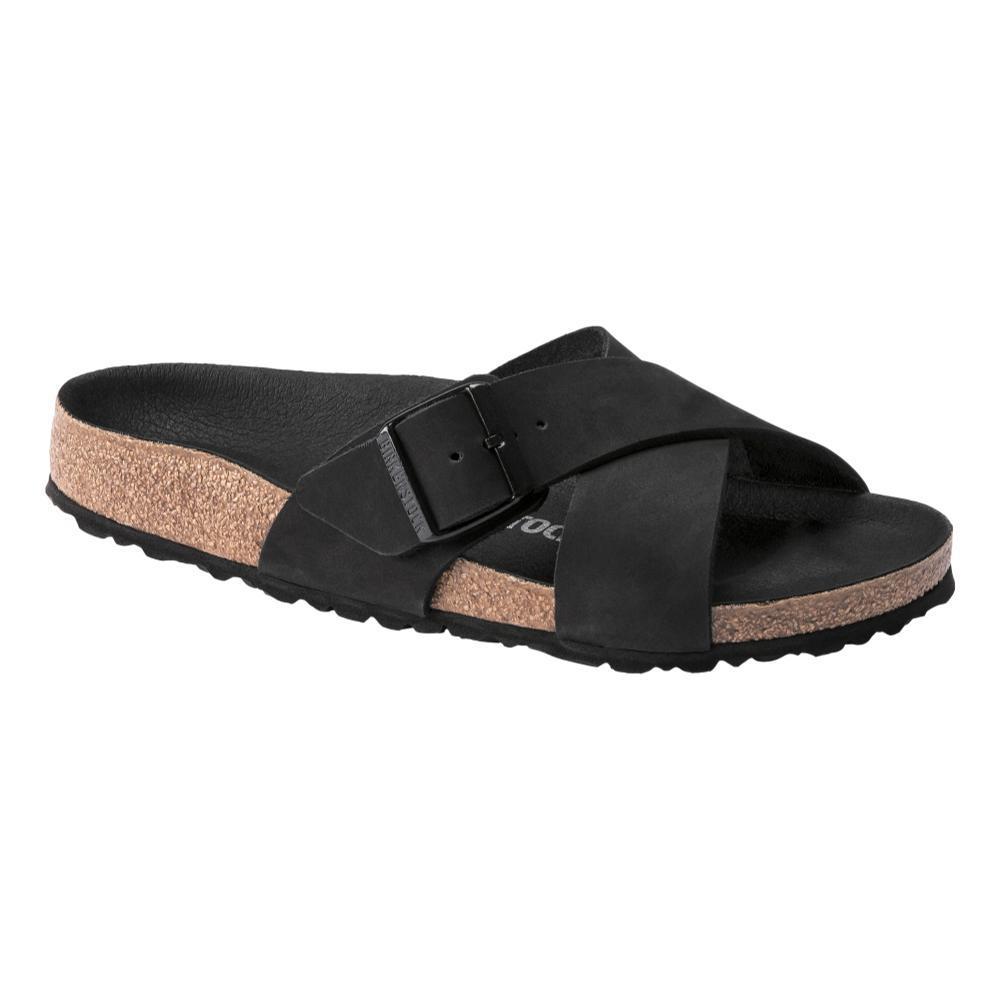 Birkenstock Women's Siena Nubuck Leather Sandals - Narrow BLACK.NB