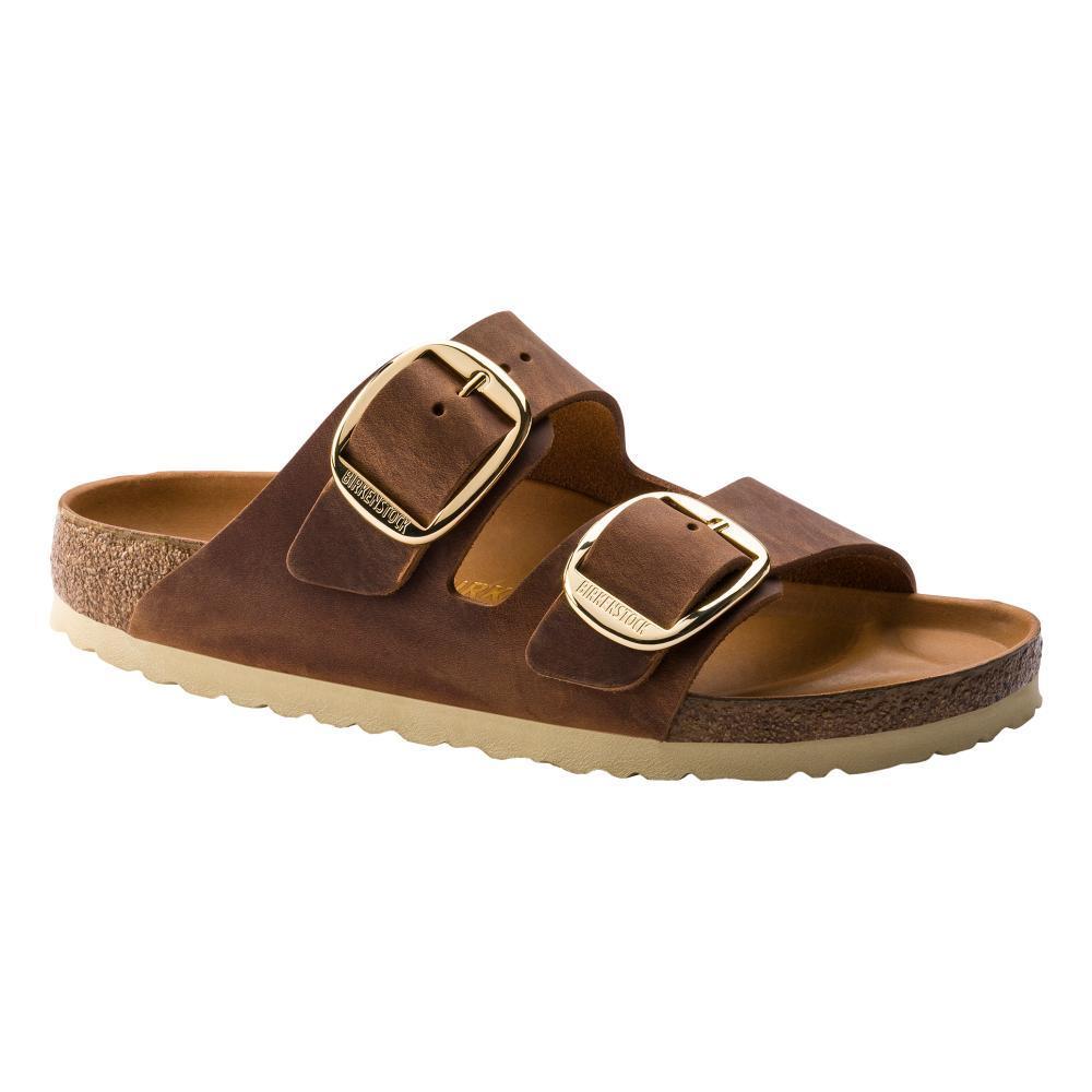 Birkenstock Women's Arizona Big Buckle Oiled Leather Sandals - Narrow COGNAC