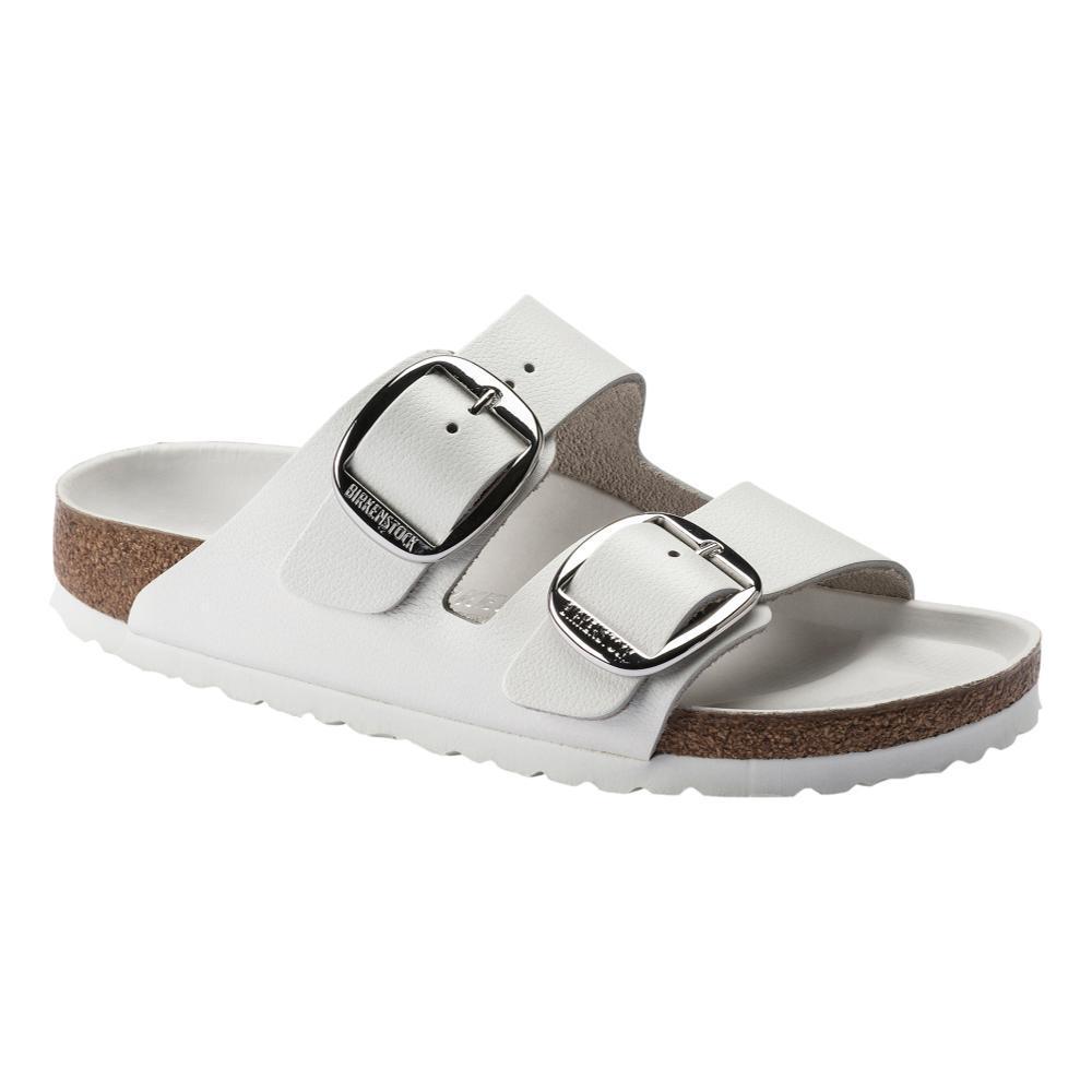 Birkenstock Women's Arizona Big Buckle Leather Sandals - Narrow WHITE