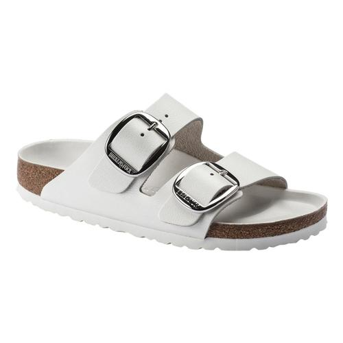 Birkenstock Women's Arizona Big Buckle Leather Sandals - Narrow White