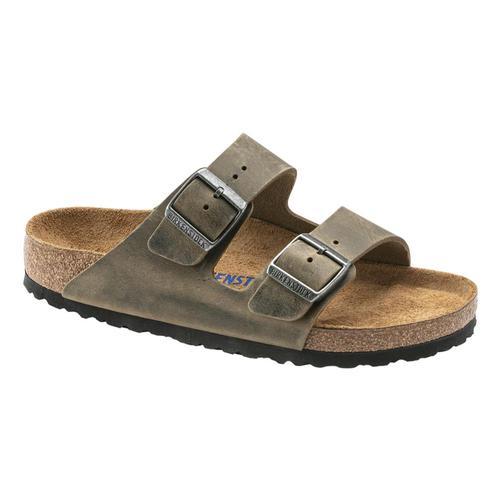 Birkenstock Women's Arizona Soft Footbed Oiled Leather Sandals - Regular Fdkhak.Ol