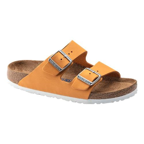 Birkenstock Women's Arizona Soft Footbed Oiled Leather Sandals - Narrow Aprict.Nb