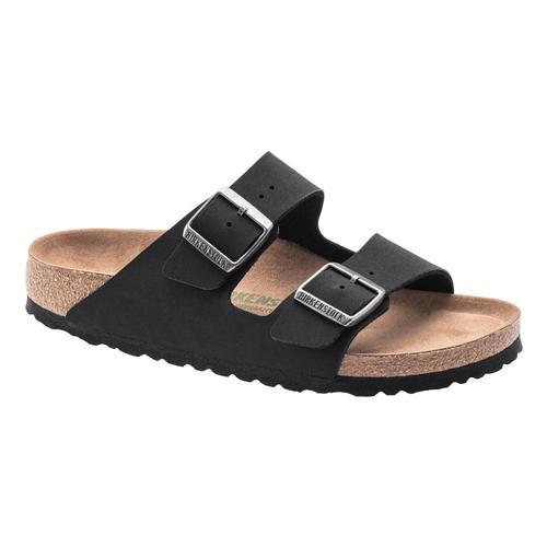 Birkenstock Women's Arizona Vegan Birkibuc Sandals - Regular Black.Bkbc