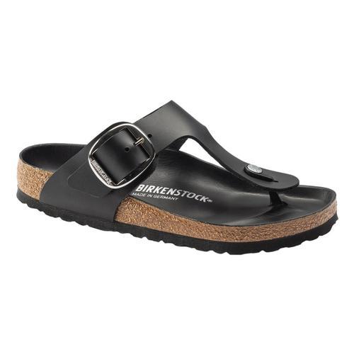 Birkenstock Women's Gizeh Big Buckle Leather Sandals - Regular Black.Lth