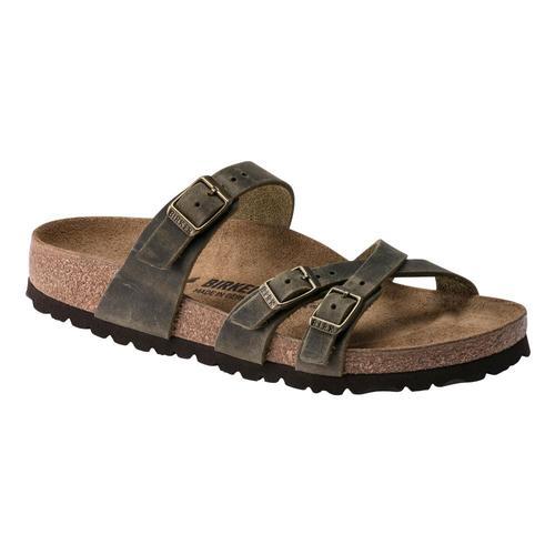 Birkenstock Women's Franca Oiled Leather Sandals - Narrow Jade.Ol