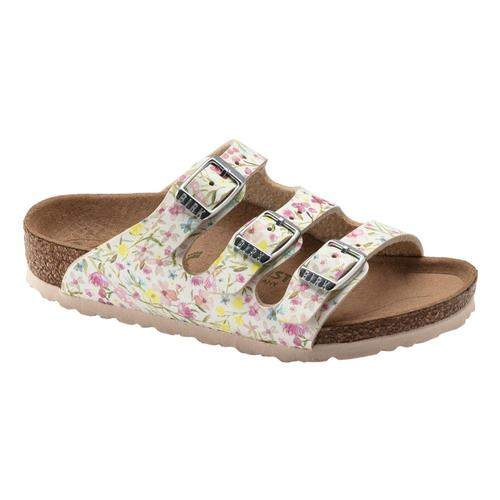 Birkenstock Kids Florida Vegan Birko-Flor Sandals - Narrow Flwrwht