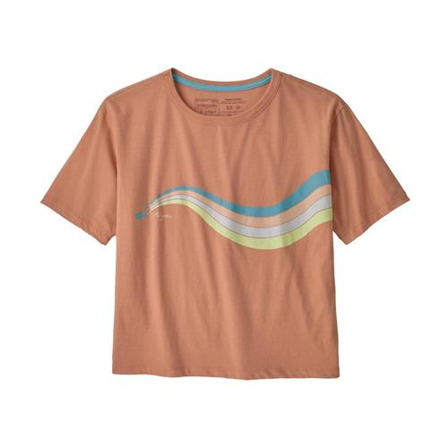 Patagonia Women's Psychedelic Slider Organic Easy-Cut Tee Peach_tope