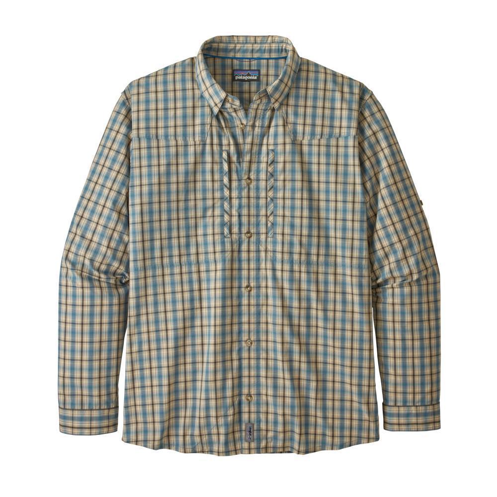 Patagonia Men's Long-Sleeved Sun Stretch Shirt BLUE_WASB