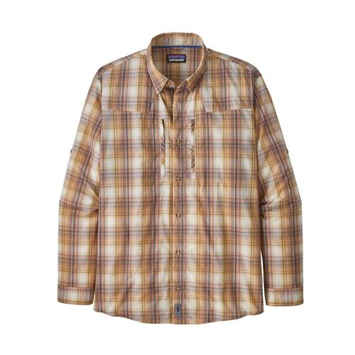 Patagonia Men's Long-Sleeved Sun Stretch Shirt Tan_bkta