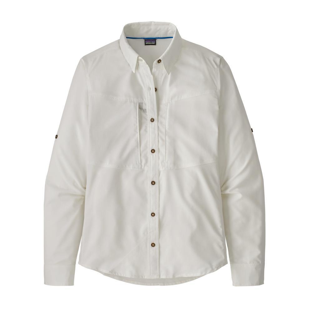 Patagonia Women's Long-Sleeved Sol Patrol Shirt WHITE_WHI