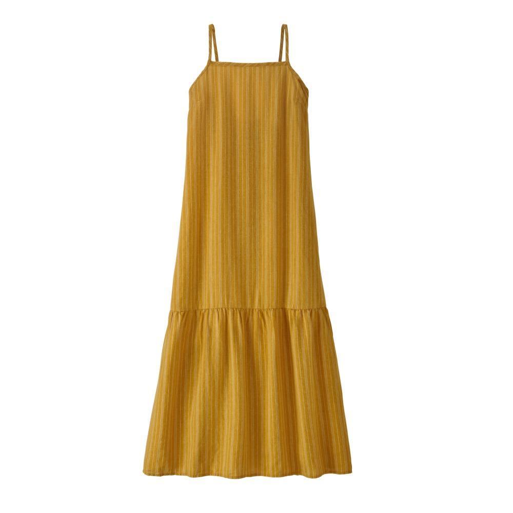Patagonia Women's Garden Island Tiered Dress GOLD_BHGO