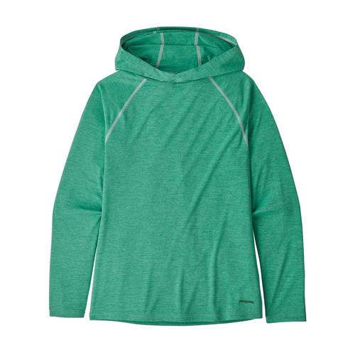 Patagonia Girls Capilene Cool Daily Sun Hoody Green_lbgx