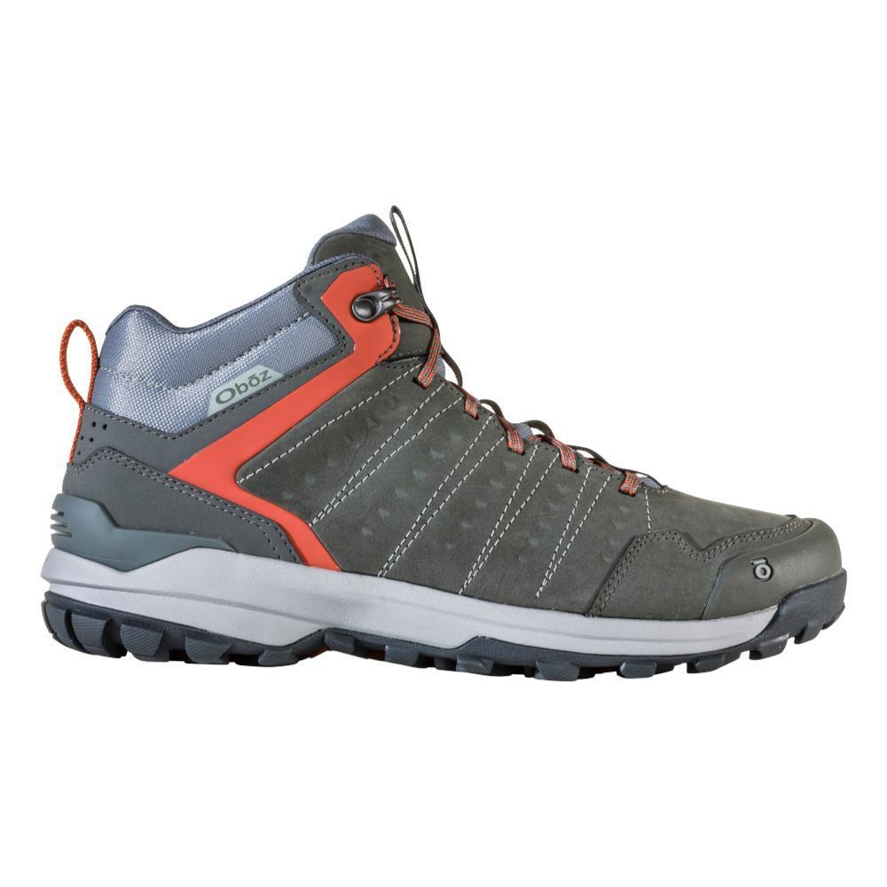 Oboz Men's Sypes Mid Leather Waterproof Hiking Boots GUNMETL