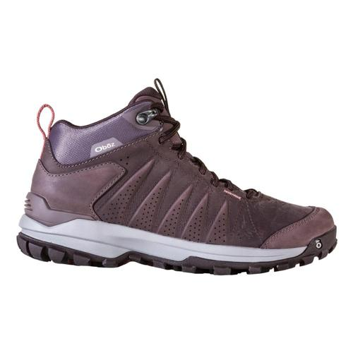 Oboz Women's Sypes Mid Leather Waterproof Hiking Boots Peppercorn