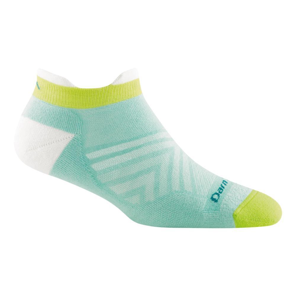 Darn Tough Women's Coolmax Run No Show Tab Ultra Lightweight Running Socks AQUA