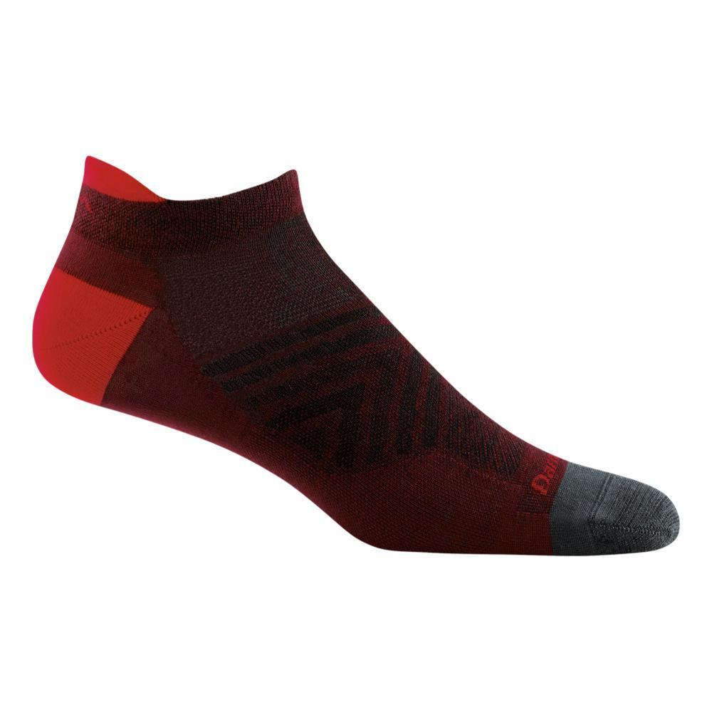 Darn Tough Men's Merino Wool Run No Show Tab Ultra Lightweight Running Socks BURGUNDY