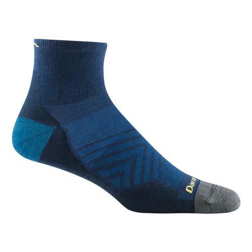 Darn Tough Men's Merino Wool Run Quarter Ultra Lightweight Running Socks Eclipse