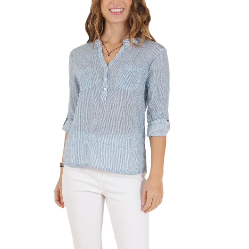 Carve Designs Women's Dylan Gauze Shirt PACIFICSTRP_588