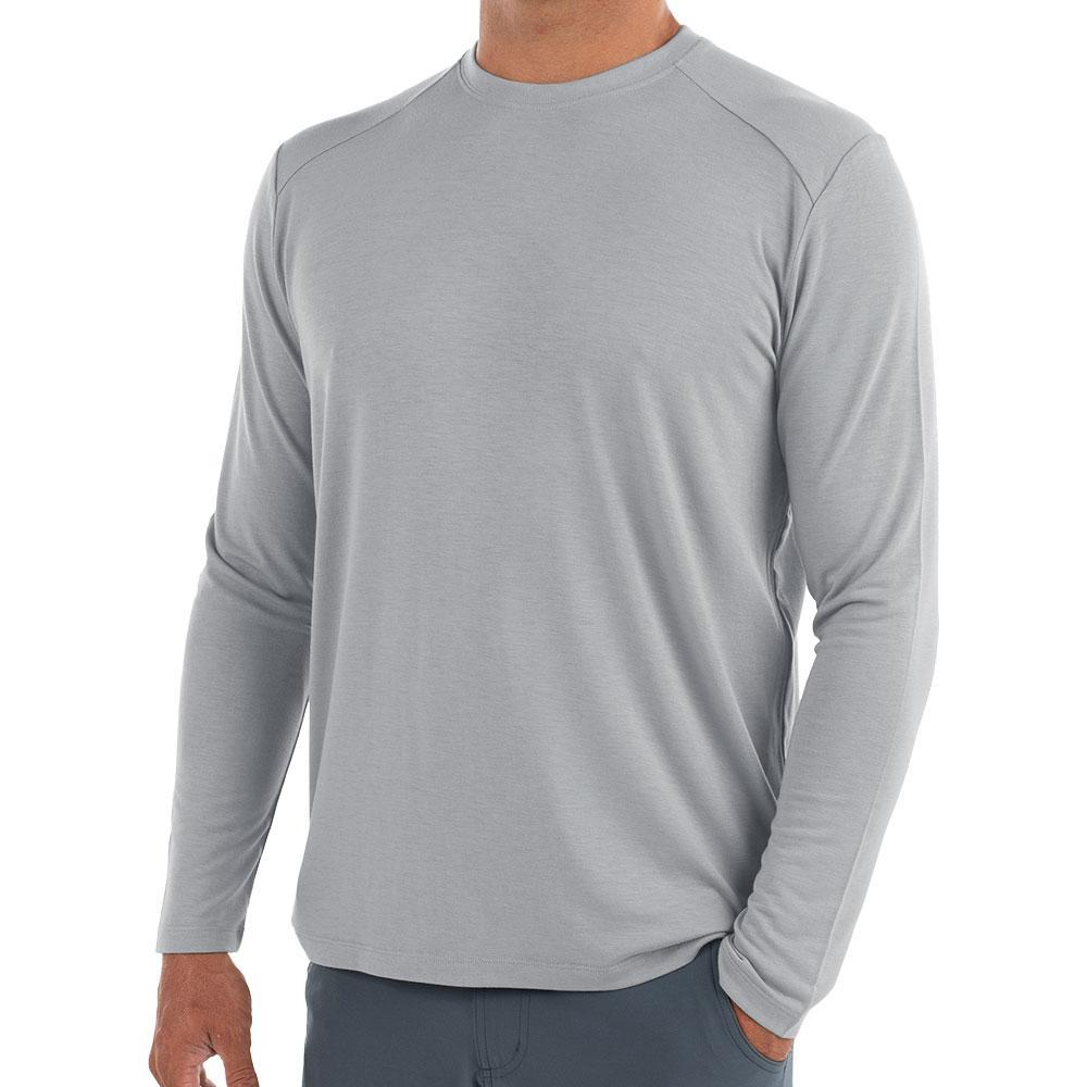 Free Fly Men's Bamboo Midweight Long Sleeve Shirt ASPENGRY107