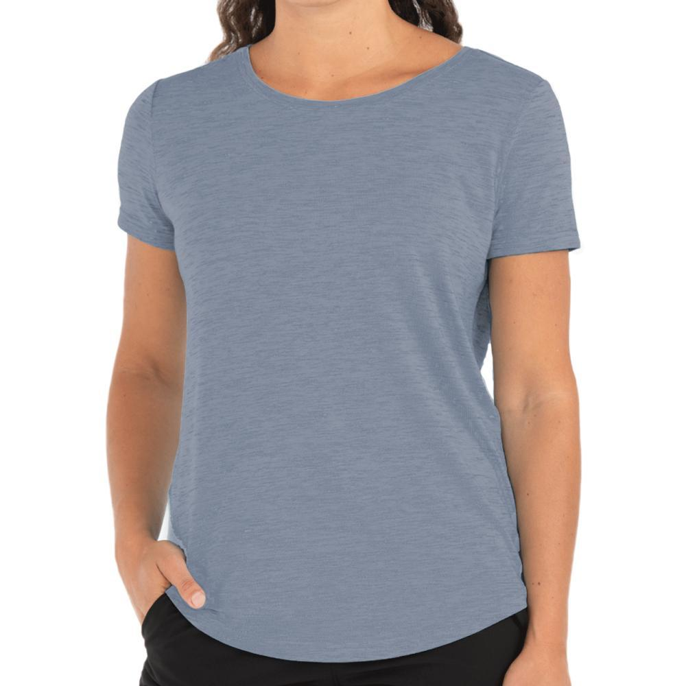 Free Fly Women's Bamboo Current Tee STONEWASH_101