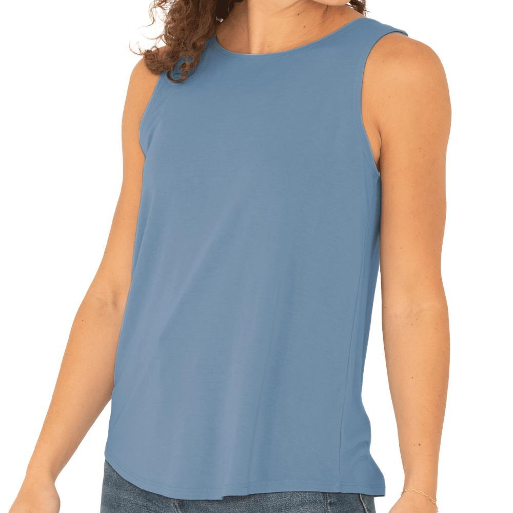 Free Fly Women's Bamboo Highline Tank CAPEBLUE_106