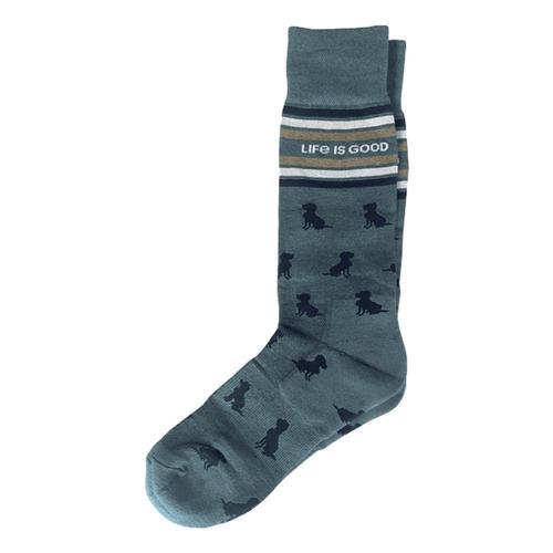 Life is Good Men's Crew Socks Dogs Dog