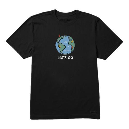 Life is Good Men's Adventure Globe Crusher Tee Jetblack