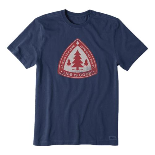 Life is Good Men's Tree Badge Crusher Tee Darkestblu
