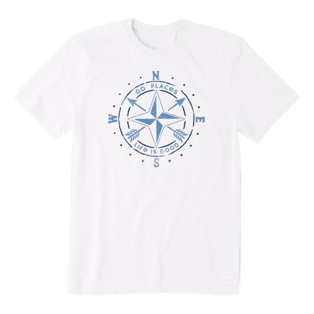 Life is Good Men's Go Places Compass Crusher Tee CLOUDWHITE
